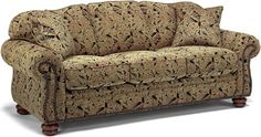 Flexsteel Furniture: Sofas: BexleySofa w/nails (8648-31)  Would love this sofa in another fabric.