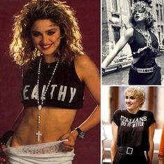 """We bet there's never been a moment that you've seen the words """"boy toy"""" and not thought of Madonna, right? The studded belt she wore in her Madonna 80s Outfit, Madonna Costume, Madonna Fashion, 80s Fashion, World Of Fashion, Fashion Trends, Nicki Minaj Dance, 80s Trends, Material Girls"""