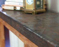 Take the Side Street: Metal Topped Console Table