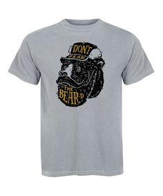 Charcoal 'Don't Fear the Beard' Tee - Men's Regular