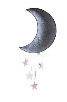 Konges Sløjd Måne Uro / Grå og Lyserød
