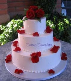 Buttercream Wedding Cakes- cake Sedona Sweet Arts