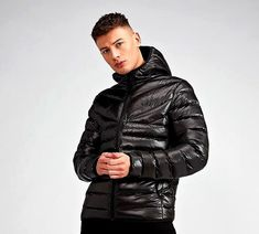 9f1de1e0dcd5d Gym King Reign Puffer Jacket in Black. the Reign Quilted Jacket comes with  a lightweight construction, full zip fastening and quilted patterning  throughout.