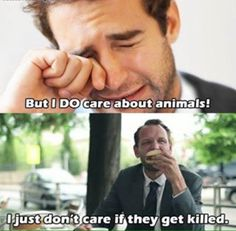 If you care at all stop contributing to their suffering. You're either vegan or you're an animal abuser