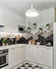 New Kitchen Tile Backsplash Cream Sinks Ideas Kitchen Colors, Kitchen Flooring, Kitchen Backsplash, Kitchen Cabinets, Backsplash Ideas, Dark Cabinets, Tile Ideas, Mosaic Ideas, Kitchen Island