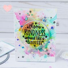 Confetti Kindness Throwing Spinner Interactive Card by ilovedoingallthingscrafty Spinner Card, Dog Cards, Shaker Cards, Creative Cards, Some Fun, Confetti, Party Planning, Card Making, Paper Crafts