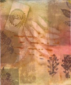 Hand Dyed Fabric--Sun Painted Over Rust Dyed on Cotton 3 via Etsy.