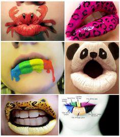 Lippen sind anscheinend nicht nur zum Küssen da!
