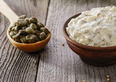 Salsa o dip de alcaparras para brochetas de vegetales - Recetas