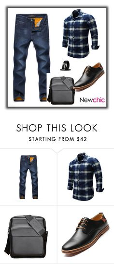 """""""Men fashion NEWCHIC 11"""" by mersy-123 ❤ liked on Polyvore featuring men's fashion and menswear"""