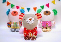 DIY Stuffed Bear - FREE Sewing Pattern and Tutorial