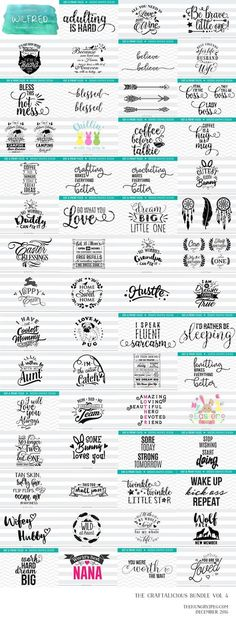 The fourth installement of our super popular Craftalicious series is here!! Grab 60 amazing craft products for ONLY $19!! This huge collection is over 90% OFF RRP and is only available for a very limited period of time. This pack is suitable for Silhouette, Cricut, SCAL, Scan N Cut, Make the Cut and many other leading craft programs. All cut files come in SVG, DXF, EPS and PNG Format. A Complete Commercial License is included.