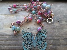 Wings of Change - change prayer beads, change mala, goddess prayer beads, goddess rosary, wicca prayer beads, wicca mala, witch prayers by MagickAlive on Etsy