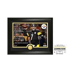 """NFL® Pittsburgh Steelers Ben Roethlisberger """"Quote"""" Bronze Coin Photo Mint by The Highland Mint"""