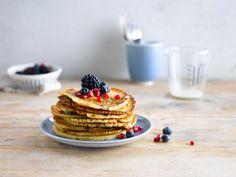 Vous allez adorer ces délicieux pancakes réalisés avec le lait d'amande Alpro