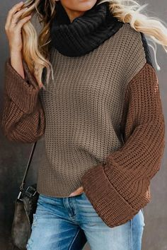 Smallwin Womens Turtle Neck Autumn Cable Knit Casual Pullover Sweater Dress