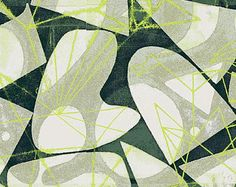 Victoria Cotton Lawn by Lizzy House Print Making for Andover Green Material Green and Black Cotton Lawn Apparel Fabric Modern Fabric