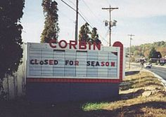 Corbin Drive-in - Corbin, KY (defunct drive-in) Corbin Kentucky, Drive In Theater, My Old Kentucky Home, Sight & Sound, Old Photos, Childhood Memories, Places Ive Been, Abandoned, Nostalgia