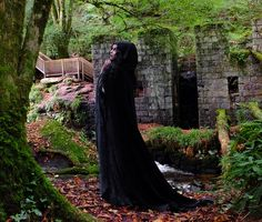 Requiem Cloak - Witchy Elven Arwen Cloak by Moonmaiden Gothic Clothing UK