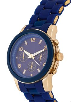 Silicon Analogue Watch by Something Borrowed. Stylish analog watch with metala alloy case, silicone strap, blue color, fold over clasp, with metallic accent, with date, day, hour sub dials and this blue watch is water resistant. IDR. 174.000