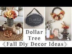 Dollar Tree DIY Rustic Fall Decor Ideas - YouTube