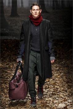 Trussardi | Milan Men's Fashion Show 2013-2014 | wonderful coat!