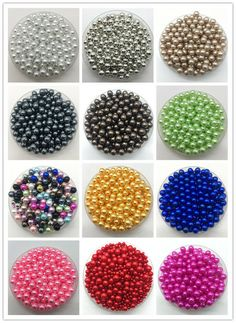 Wholesale 2-14mm No Hole ABS Pearls Round Acrylic Beads DIY Jewelry Making