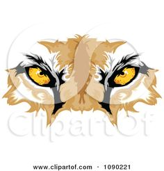 Clipart Cougar Mascot Eyes - Royalty Free Vector Illustration by Chromaco