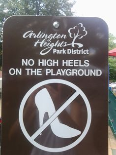 Good advice from a playground sign. :)