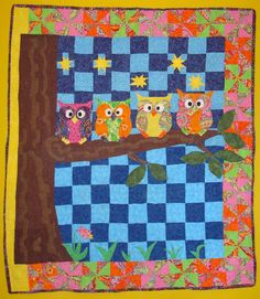 owl quilt | Owl Quilt Finished