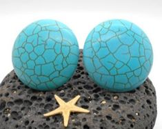 Knobs, Stone Knobs, Cabinet Knobs, Round Turquoise Cabinet Knobs or Drawer Pulls - stone knob Knobs And Pulls, Drawer Pulls, Turquoise Cabinets, Bubble Wrap Bags, Vertical Or Horizontal, Cabinet Knobs, Cabinet Drawers, Hanging Jewelry, Beach Cottage Decor