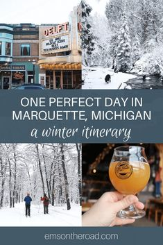 Discover the best things to do in the winter in Marquette, Michigan #puremichigan Michigan Vacations, Michigan Travel, Family Vacations, North Country Trail, Marquette Michigan, Pictured Rocks National Lakeshore, Echo Lake, Picture Rocks, Waterfall Hikes