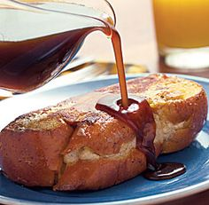 Apple-Stuffed French Toast with Cider Syrup. This is soo good and you only need one piece.