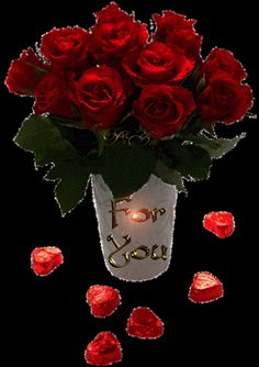 Red Roses For You love flowers animated roses red roses valentine's day for . Flowers Gif, Beautiful Rose Flowers, Beautiful Gif, Love Rose, Love Flowers, Birthday Greetings, Birthday Wishes, Happy Birthday, Roses Valentines Day