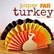 DIY- Centerpiece or kid craft- PAPER FAN TURKEY