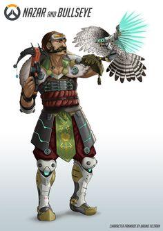 ArtStation - Nazar & Bullseye - Overwatch Fanmade Character- Concept Art, Bruno Feltran