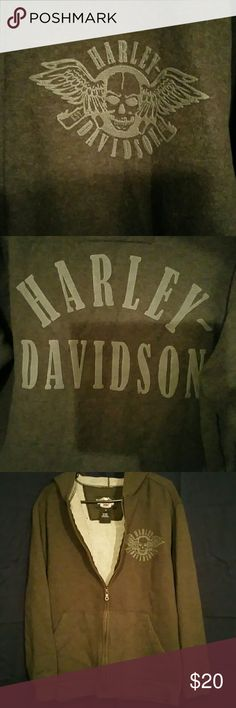 Harley-Davidson Hooded Sweatshirt Harley-Davidson Hooded Sweatshirt with winged skull embellishment on the front. Brand new without tags, never worn. Harley-Davidson  Tops Sweatshirts & Hoodies