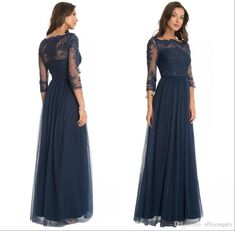 Custom Made 2017 Vintage Dark Navy Lace Sheer Mother Of The Bride Groom Dresses With Long Sleeves Floor Length Evening Wear Gowns Mother Of The Bride Dresses Nyc Kay Unger Mother Of The Bride Dresses From Officesupply, $116.28| Dhgate.Com
