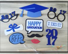 Graduation Photo Booth Props Collection by Studio120Underground