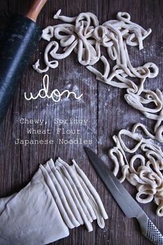 Udon noodles from scratch {easy and so chewy!}