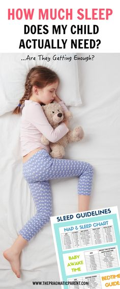 Sleep Guidelines for Infants through Adolescents to Guide You Through Nap and Bedtimes and the Recommended Number of Sleeping Hours Kids of all Ages.