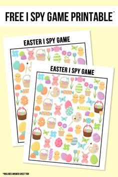 Freebie | Easter I Spy Printable