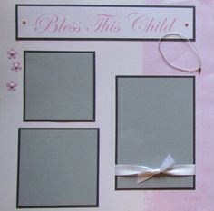 BLESS THIS CHILD baby GiRL 12x12 Premade by JourneysOfJoy on Etsy