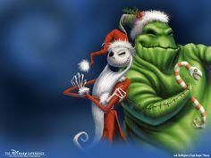 Fondo de Pantalla de Dibujos Animados: Jack Skeleton y Oogie Boogie - Navidad