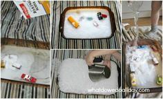 Keep your kids busy with this fizzy indoor/outdoor activity from whatdowedoallday.com