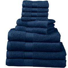 10-Piece Deluxe Towel Set   Colors, Teal & Espresso