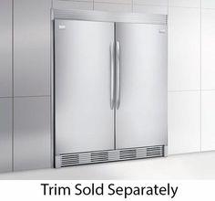 "Frigidaire 64"" Built-In All Refrigerator All Freezer Combo FGRU19F6QF FGFU19F6QF"