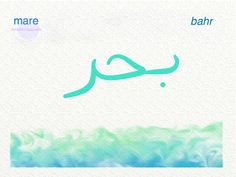 Parole in arabo: Mare Disegno di © Mille Cammelli