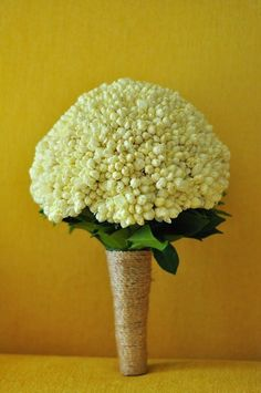 19 Beautiful Ways To Use Sampaguita Flowers In Your Wedding: #1. First of all, sampaguita buds make a simple yet gorgeous wedding bouquet.