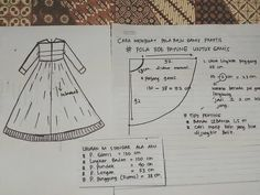 Long Dress Patterns, Sewing Patterns Girls, Clothing Patterns, Sewing Tutorials, Sewing Projects, Pola Lengan, Sewing Lessons, Foto Instagram, Fashion Sewing